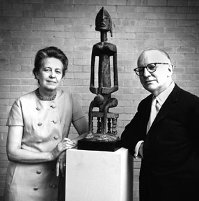 Dominique and John de Menil