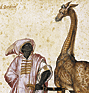 Jacopo Ligozzi. Barbary Moor with a Giraffe. (thumbnail)